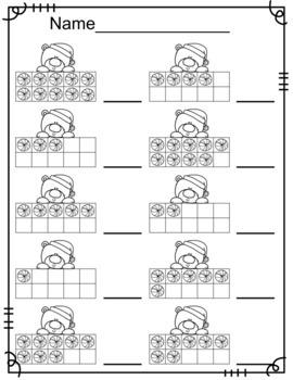 Polar Bear Ten Frames/Number Recognition