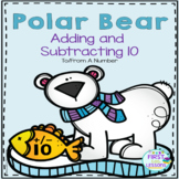 Polar Bear Themed Adding And Subtracting 10 To A Number
