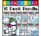 Polar Bear Themed Boom Cards - Math and Language Arts Bund