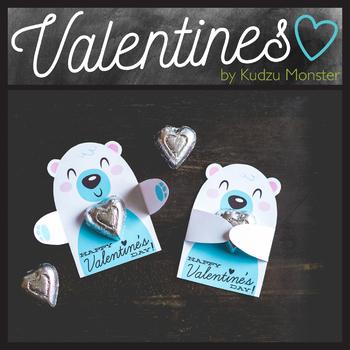 Polar Bear Valentine Candy Hugger