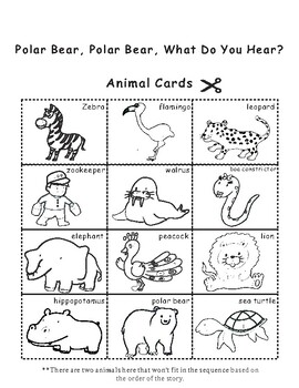 Polar Bear What Do You Hear? by Eric Carle Sequencing Activity | TpT