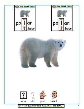 Polar Bear, What do you Hear? Articulation Symbol Story by Speech Sound City