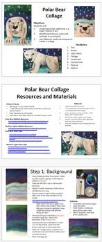 Winter Polar Bear Northern Lights K-8 Art Science Social S