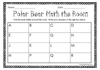 Polar Bear Winter Math-the-Room FREEBIE!