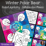 Polar Bear Winter Mosaic - Radial Symmetry Mosaic - Winter