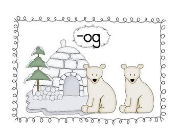 Polar Bear Word Family Literacy Center