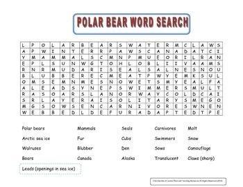 Polar Bear Word Search