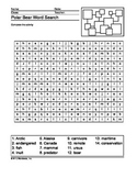 Polar Bear Word Search Printable