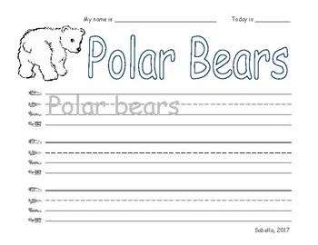 Polar Bear Writing
