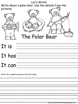 Polar Bear Writing Draft Sheet