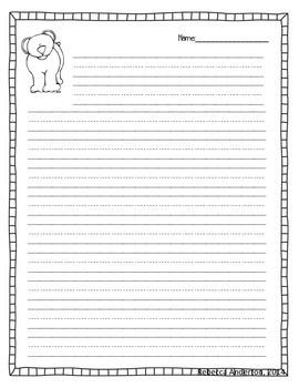 Polar Bear Writing Freebie