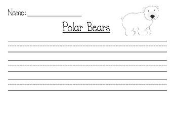 Polar Bear Writing Template