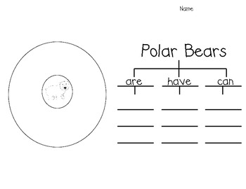 Polar Bear Writing (with circle and tree maps)
