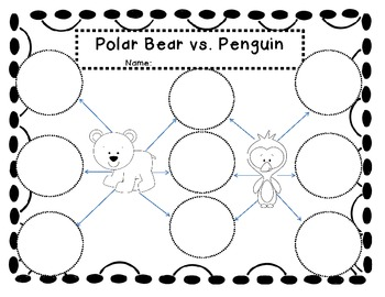 Polar Bear and Penguin Double Bubble