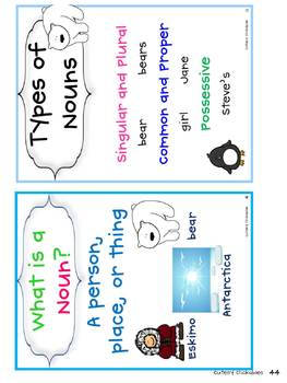 Polar Bear and Penguin Nouns Unit (Common Core)