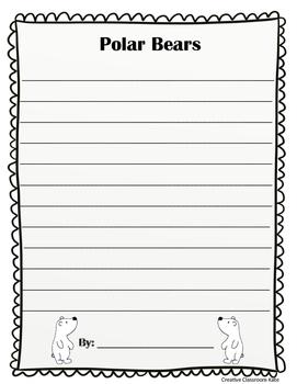 Polar Bear and Penguin Writing Craftivity