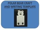 Polar Bear craft and writing template