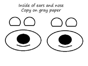 Printable polar bear mask.