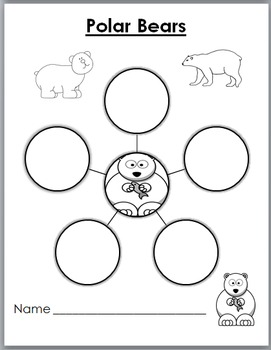 Polar Bears Science, Movement, Literacy & Math -Polar Bear Unit -Winter Activity
