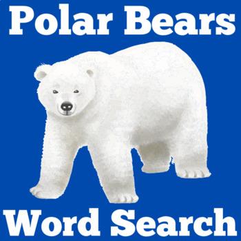 Polar Bears Activity | Polar Bears Unit | Polar Bears Word Search