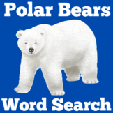 Polar Bears | Worksheet Activity | Kindergarten 1st 2nd 3r