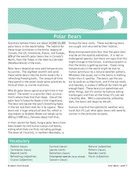 Polar Bears (Bundled Set of ESL Lesson Plans)