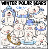 Polar Bears Clip Art - Whimsy Workshop Teaching