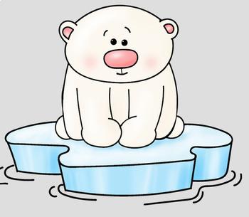 Polar Bears Clip Art - Whimsy Workshop Teaching