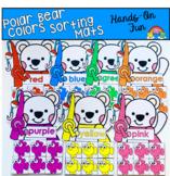 Polar Bears Color Sorting Mats