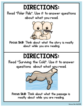 Polar Bears Comprehension Activities