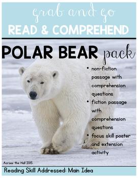 Polar Bears Comprehension Activities