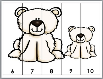 Polar Bears Counting Puzzles Numbers 1-10