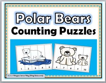 Polar Bears Math - Number Puzzles 1-10