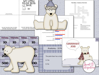 POLAR BEARS - Science and Informational Text Study With Interactive Quiz Game