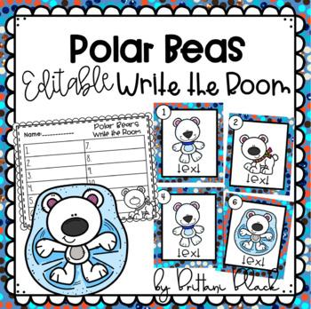 Polar Bears- Editable Write the Room