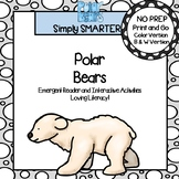Polar Bears Emergent Reader Book AND Interactive Activities