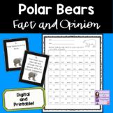 Polar Bears Fact and Opinion Task Cards