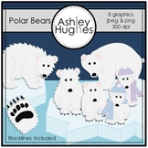 Polar Bears Clipart {A Hughes Design}