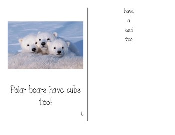 Polar Bears HAVE Guided Reading Books - Teacher Copy and Student Copy