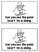 Polar Bears Having Winter Fun - Emergent Reader Set {Ladybug Learning Projects}