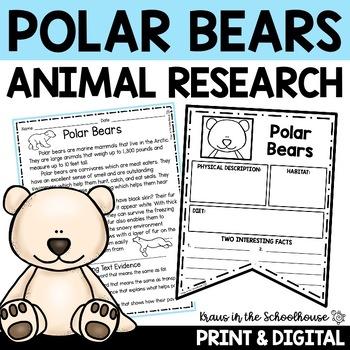 Polar Bears: Let's Read & Write About Polar Bears Activities