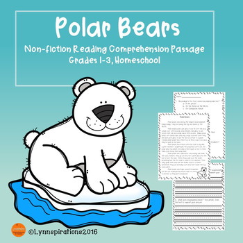 Winter Animals Polar Bears Reading Comprehension Passage