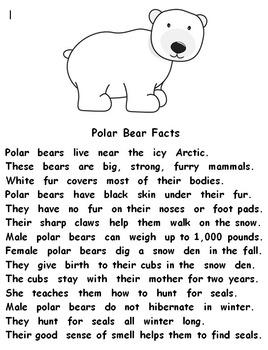 Polar Bears Nonfiction Activities