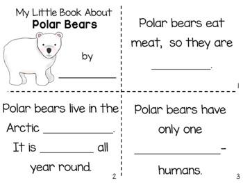 Polar Bears Nonfiction Close Reading & Visual Vocabulary Unit