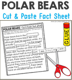 Polar Bears Nonfiction Facts Cut and Paste Worksheet