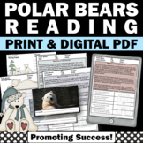 Polar Bears Nonfiction Science Reading Comprehension Passages & Questions