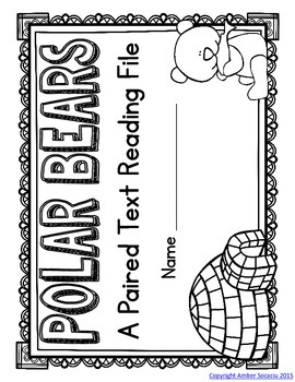 Polar Bears Paired Text Fact File or Lapbook