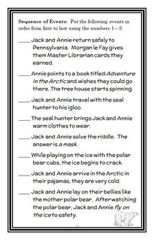 Polar Bears Past Bedtime : Magic Tree House #12 Novel Study / Comprehension