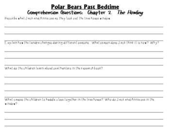 Polar Bears Past Bedtime by Mary Pope Osborne:  A Complete  Novel  Study!