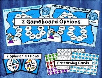 Polar Bear's Pattern Scramble {Differentiated Math Game}